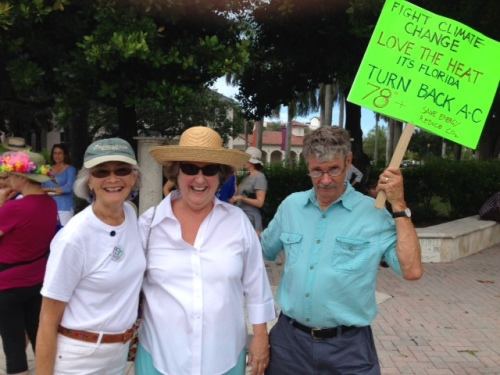 M, MJ and Dean at Climate March